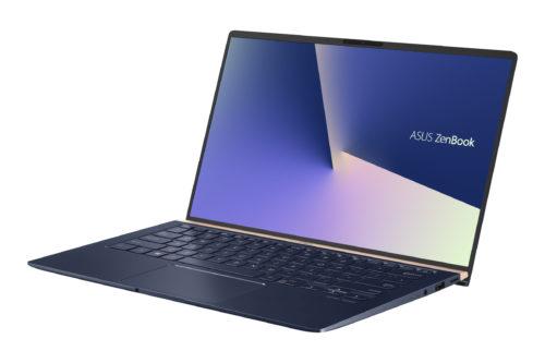 Asus ZenBook -kannettavan näytössä on erittäin ohuet reunukset.